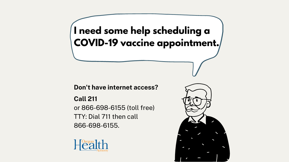 No internet access to schedule your vaccine? 211 can help