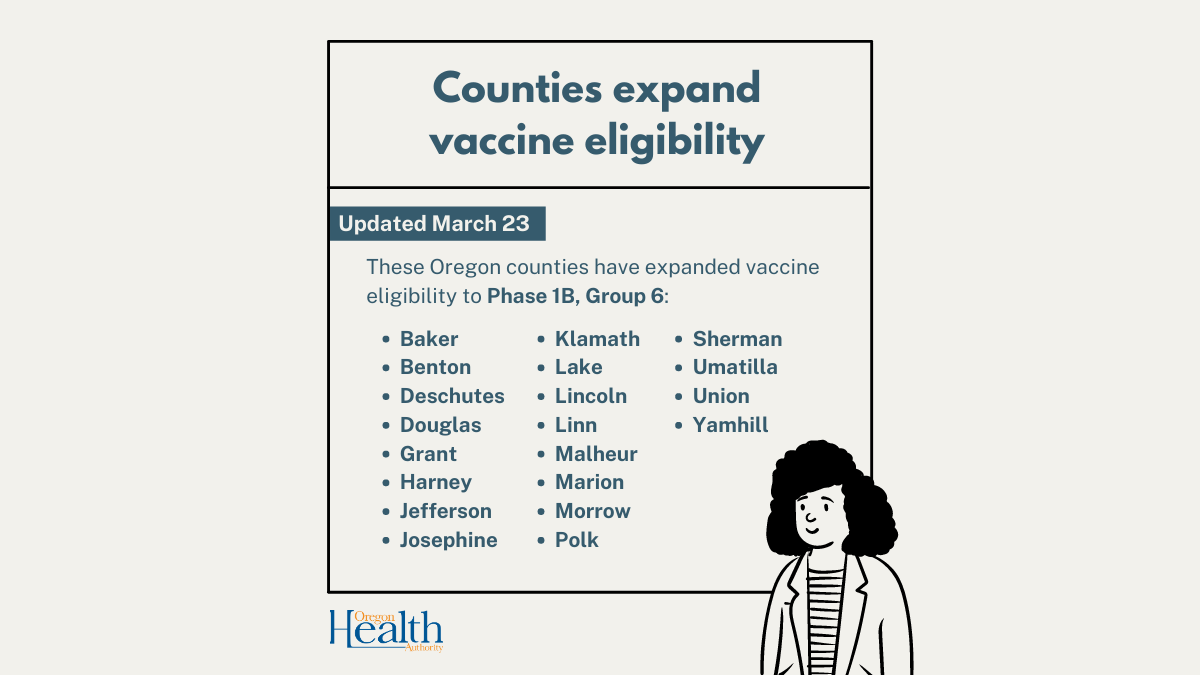 Counties approved to expand vaccinations