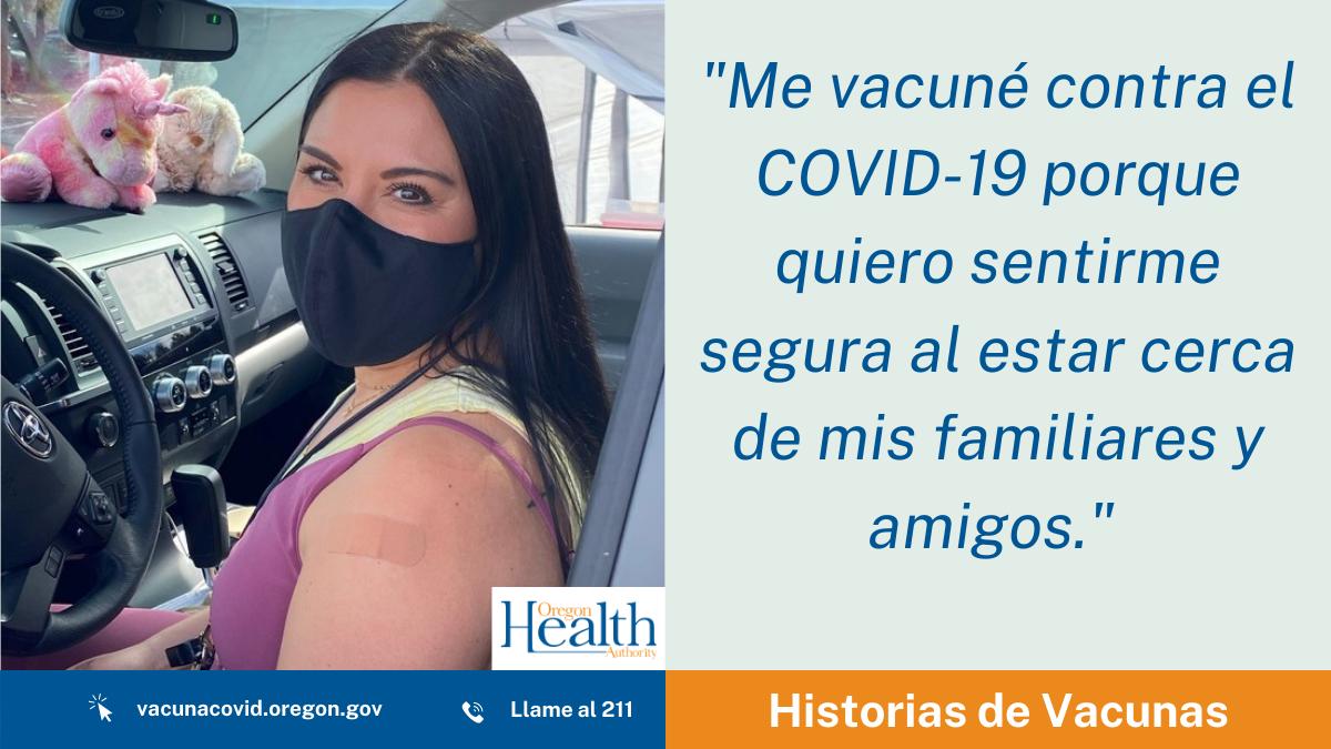 Historias de Vacuna: Nicole R. Butler-Hooton