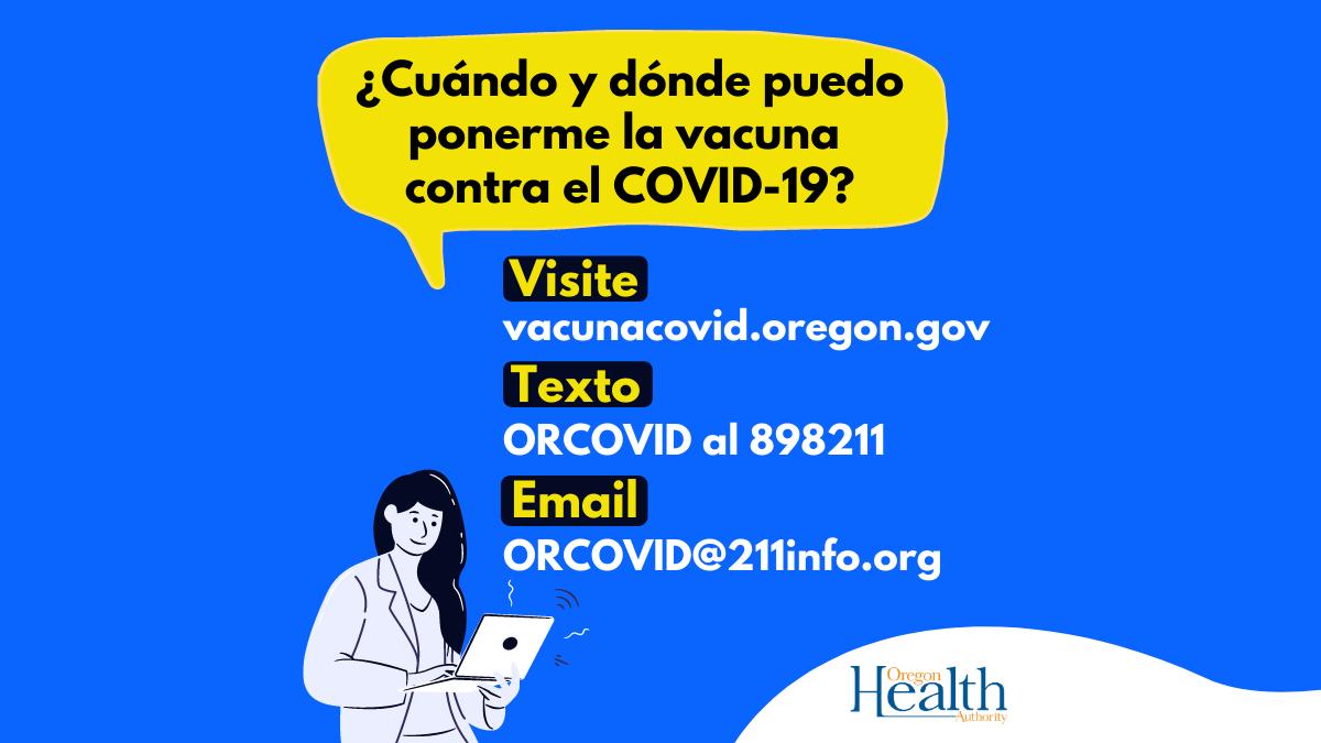 Recibir la vacuna contra el COVID-19 no afectará su estado migratorio