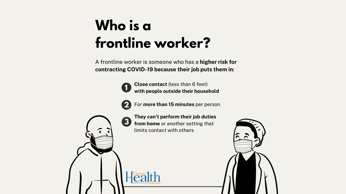 A closer look at eligibility groups: More about frontline workers