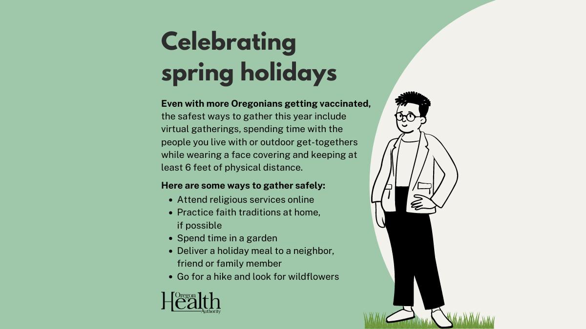 Celebrating spring holidays safely