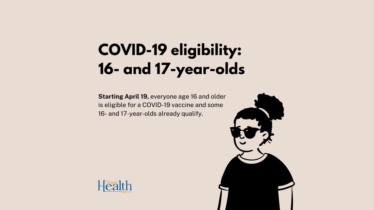 16 or older? You're eligible to get vaccinated starting April 19