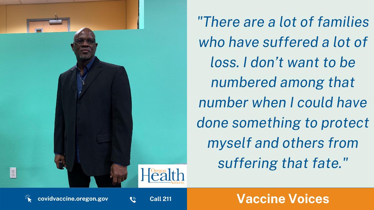 Vaccine Voices: Executive Pastor Edward Williams