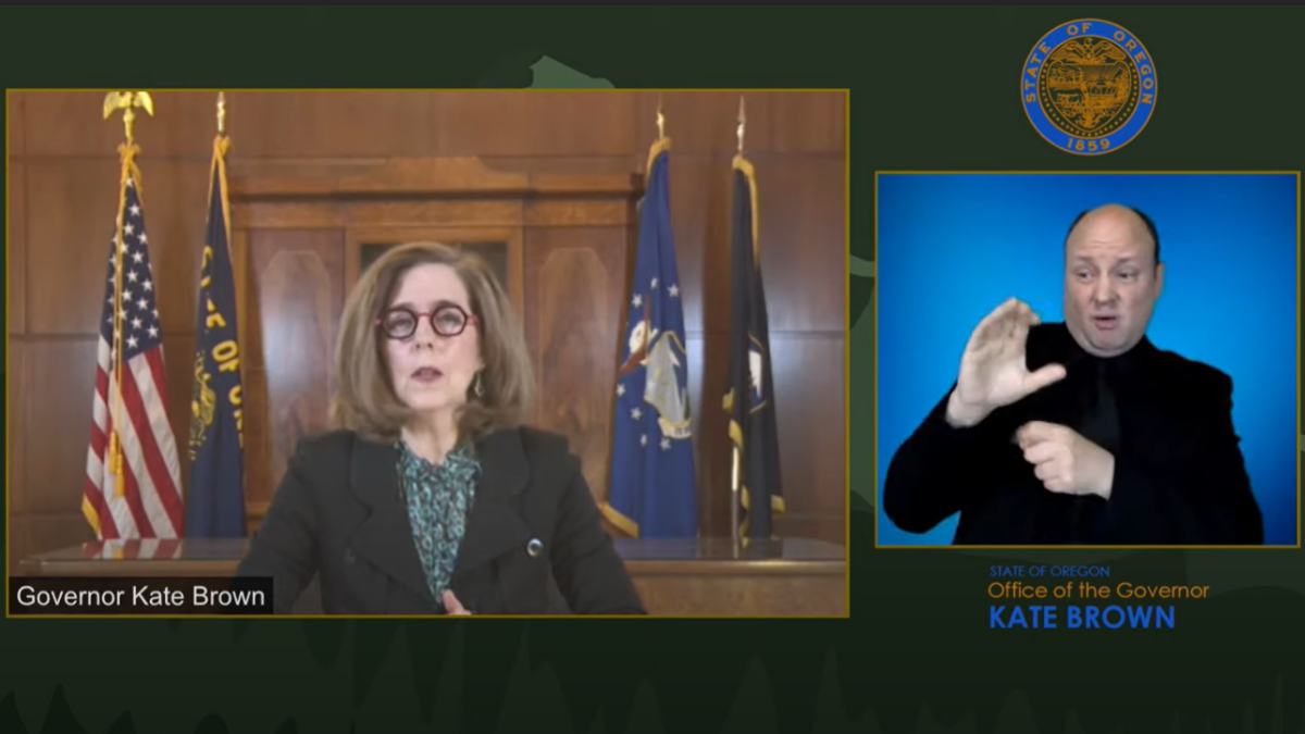 Governor Brown and the Oregon Health Authority provide an update on vaccinations in Oregon