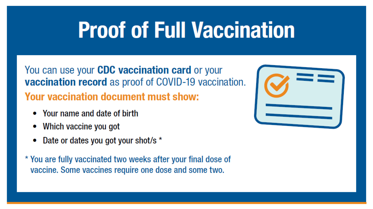 Lost your vaccination card? You can use your record of vaccination as proof