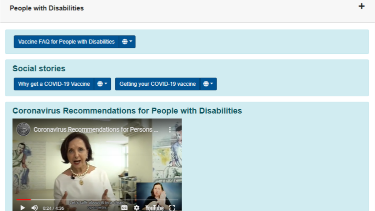 COVID-19 vaccine toolkit now available for people with disabilities