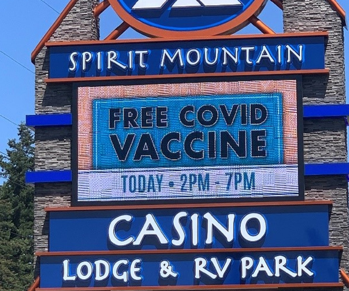 Supporting vaccination efforts in Yamhill County