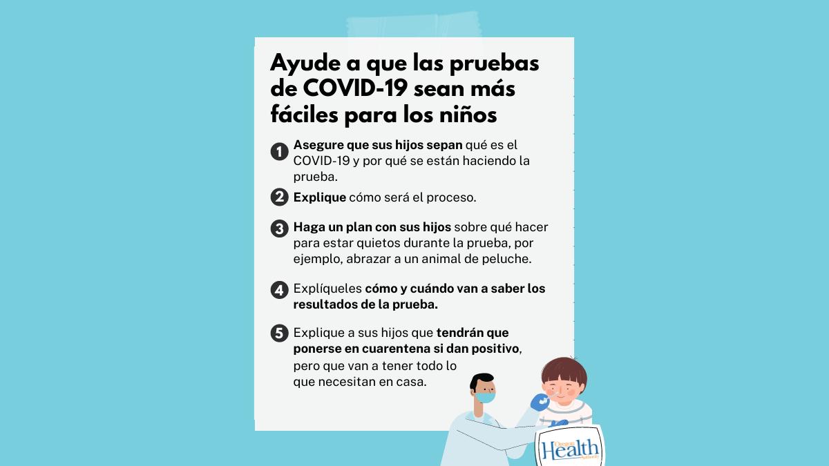 Consejos para ayudar a que las pruebas de COVID-19 sean más fáciles para los niños