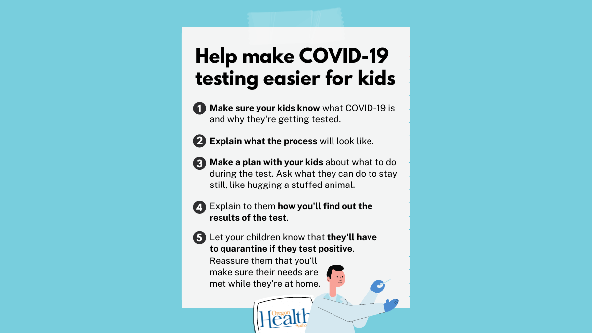 Tips to help make COVID-19 testing easier for kids