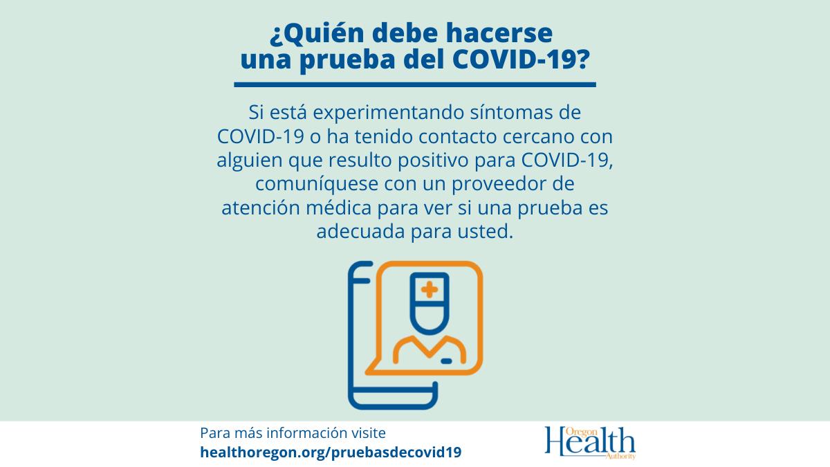 ¿Cuándo y cómo hacerse una prueba de COVID-19?