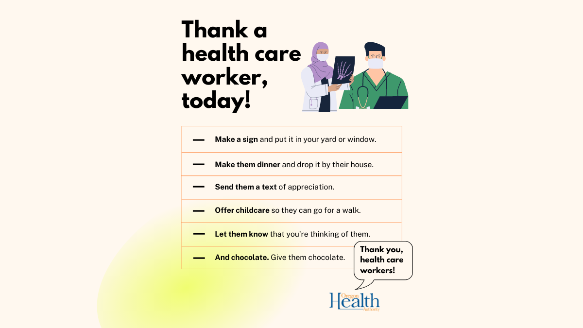 Thanking our health care workers as hospitalizations are high across the state
