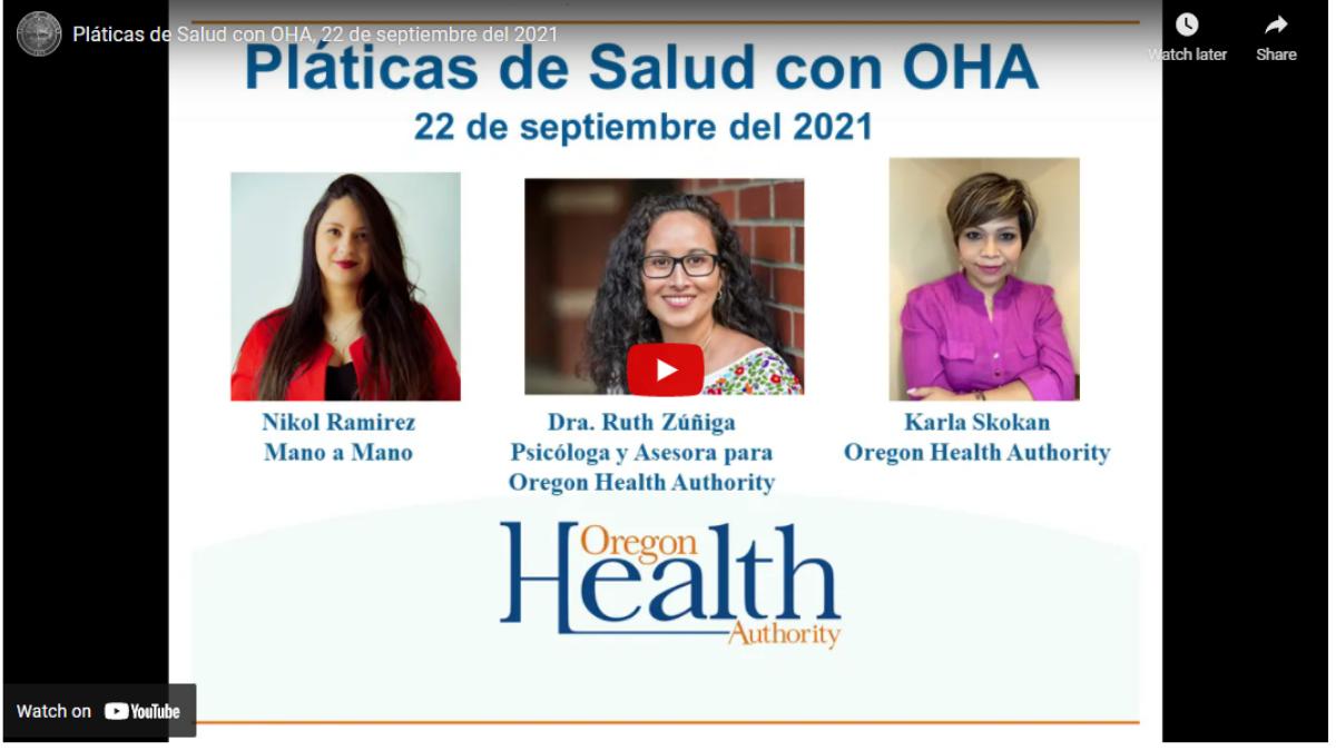 Pláticas de Salud con OHA: La crisis de hospitales a raíz del COVID-19 y los trabajadores de la salud