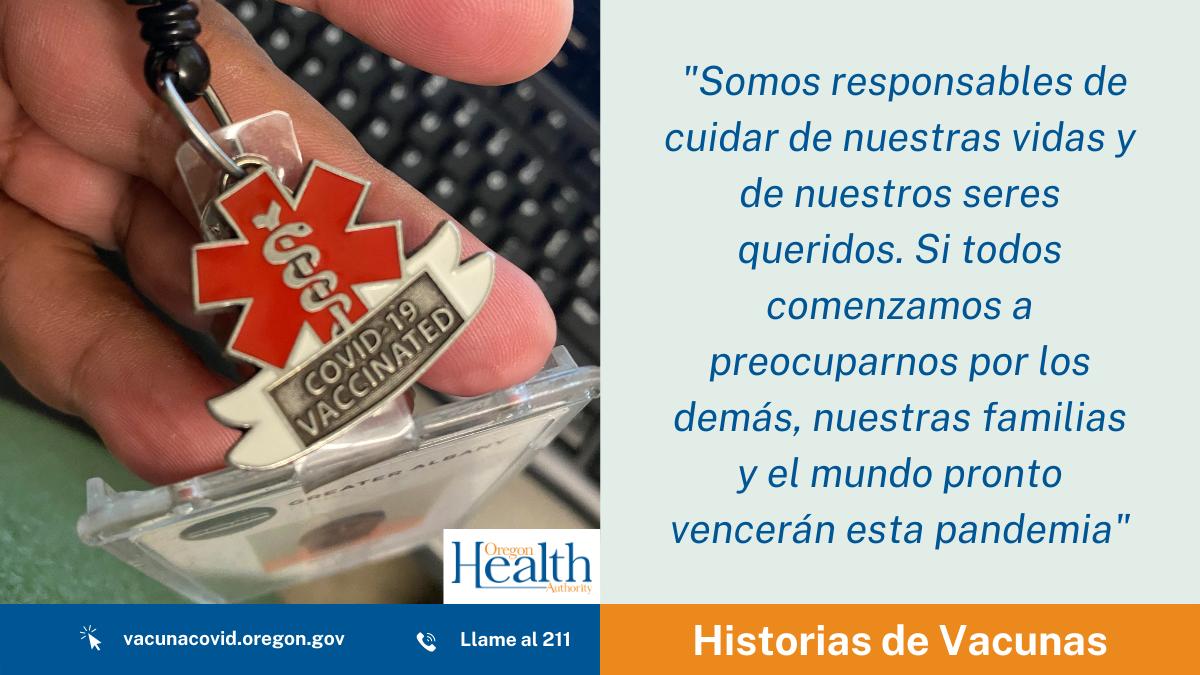"""Historias de Vacuna: """"Si todos comenzamos a preocuparnos por los demás, podremos vencer a esta pandemia"""""""