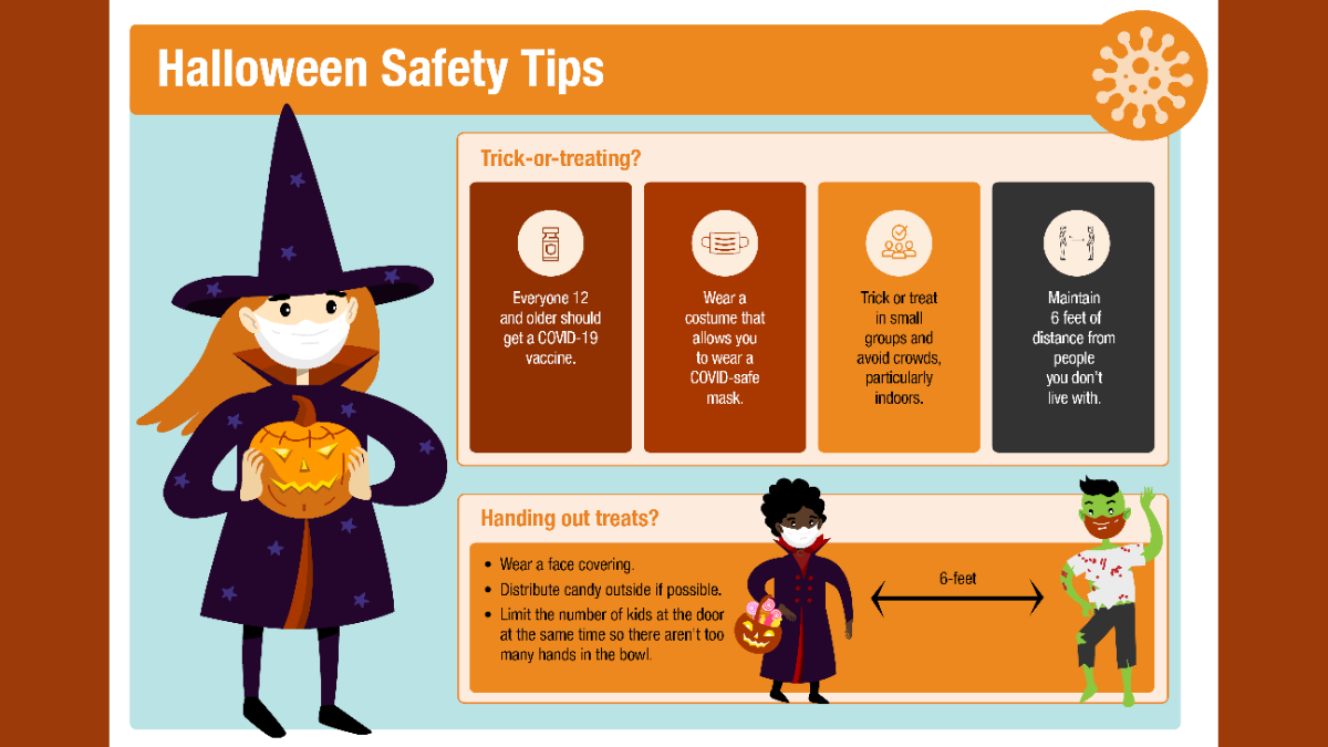 Let's trick-or-treat safely!